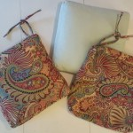 Recovering chair cushions