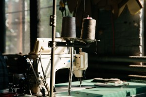 Industrial sewing machine used in manufacturing