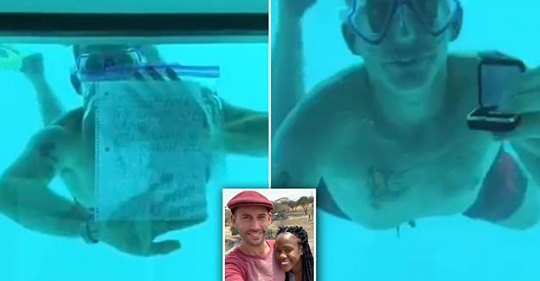 Man drowns during underwater marriage proposal.