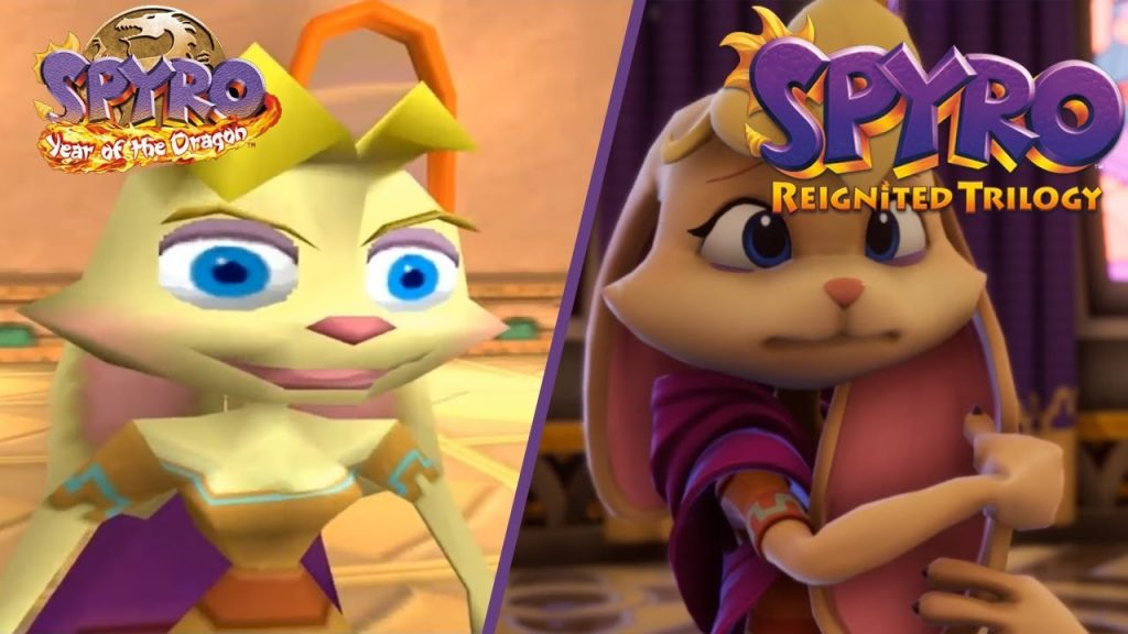 Spyro Reignited Trilogy has updated graphics.