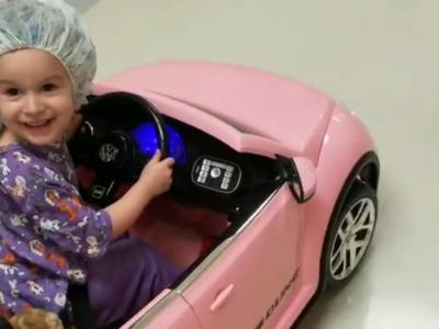 Child patients get to drive mini cars to surgery at this hospital.