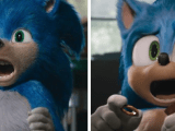 Sonic the Hedgehog's Movie Design Before and After