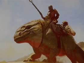 The Mandalorian Returns On A Dewback In Episode 5