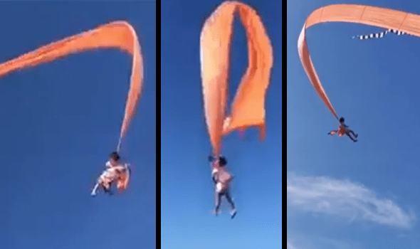 Horrifying Moment Kite-Flying Girl Is Swept Into The Sky By Wind Caught On Video – United Squid
