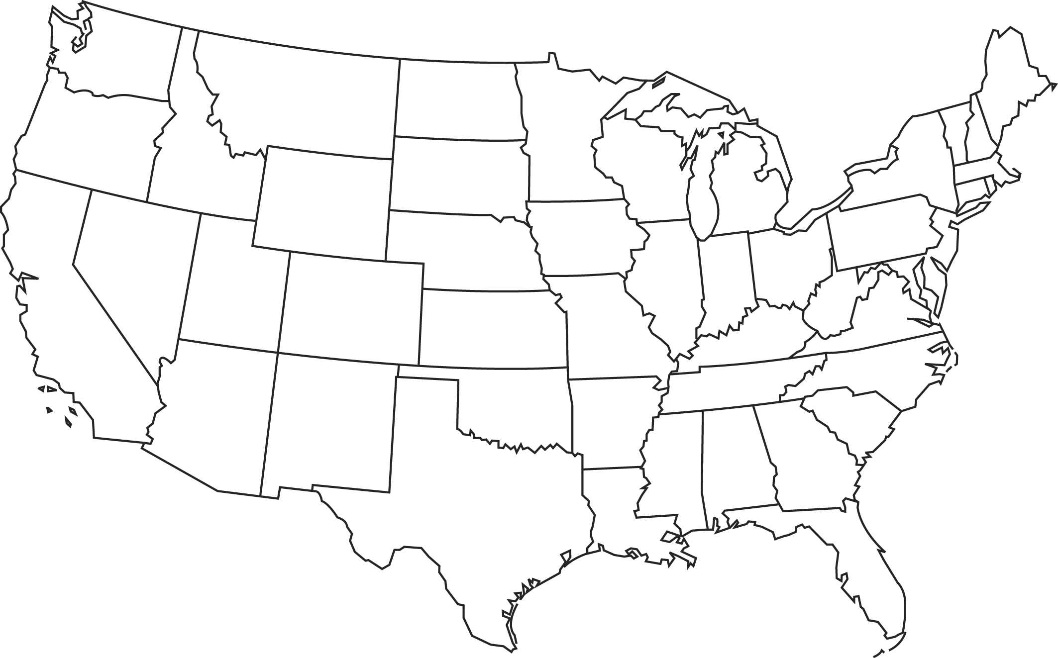 Free United States Of America Map