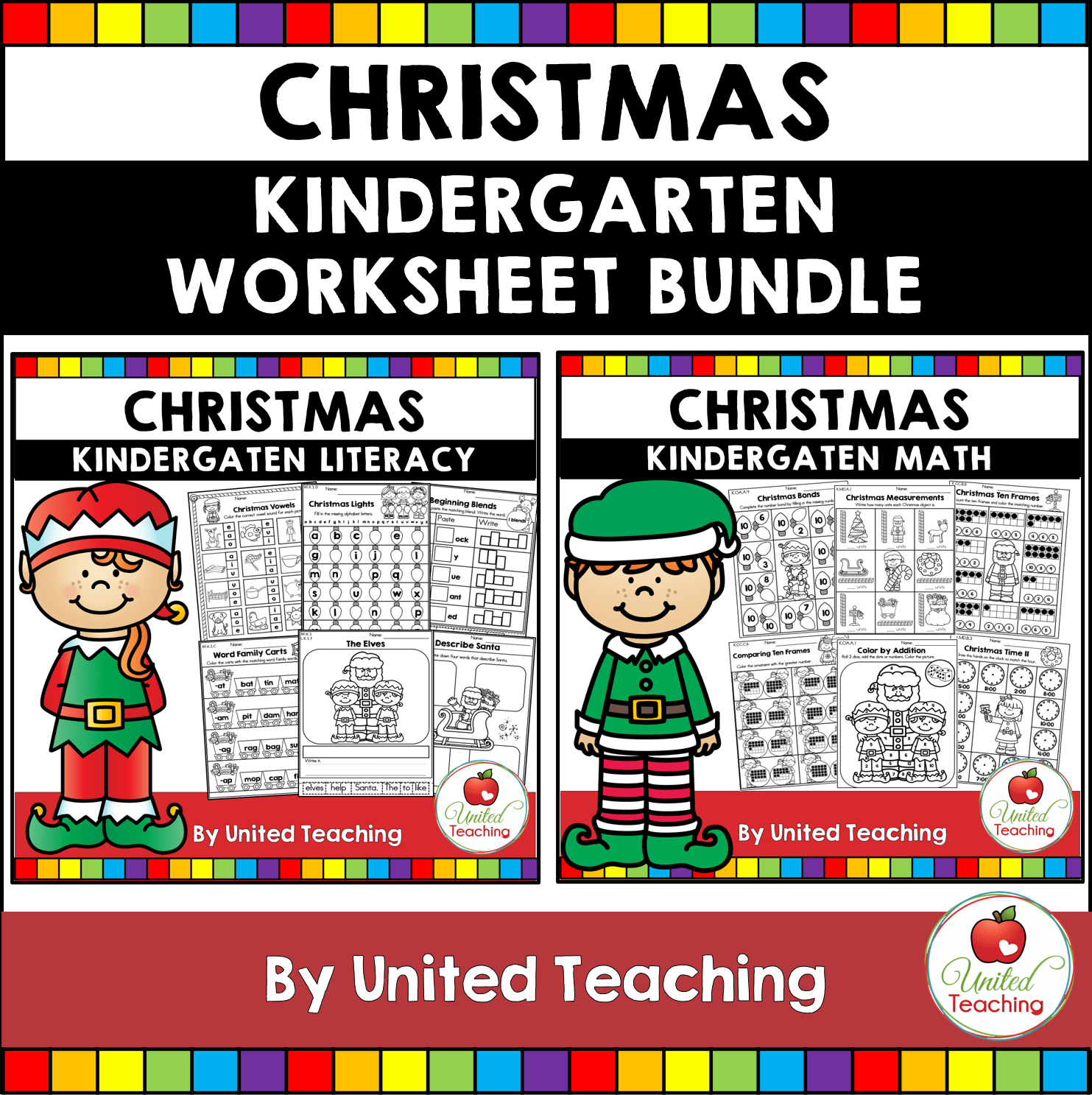 Christmas Math And Literacy Kindergarten No Prep Activities