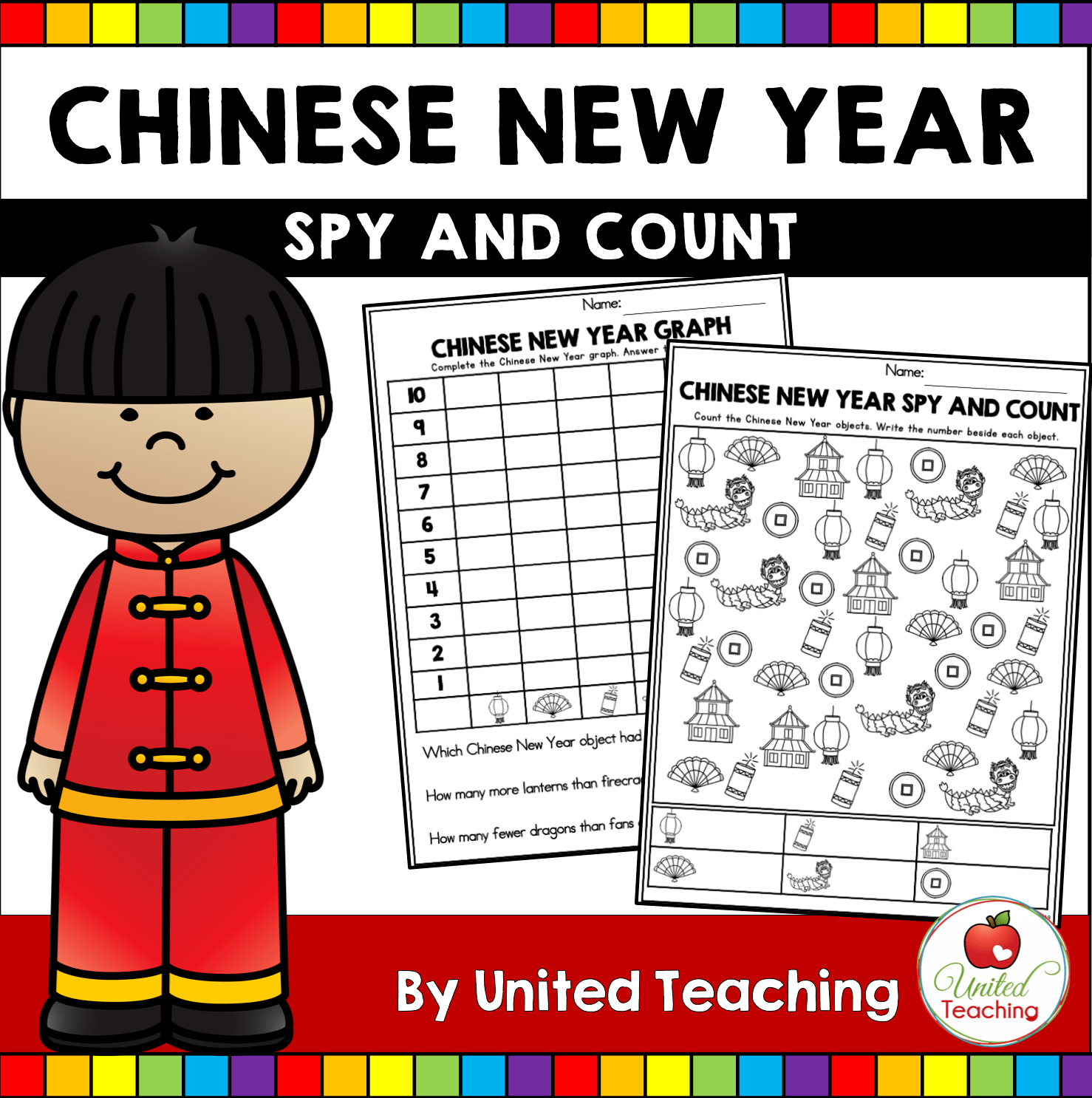 Chinese New Year Free Counting Activity