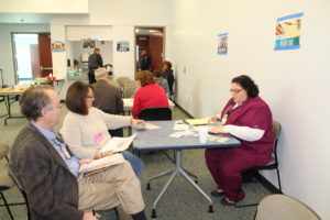 Nassau County participants interact with the various community resources of the simulation.