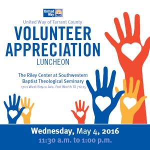 Volunteer Appreciation Luncheon 2016 Graphic