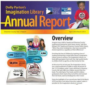 screenshot of the annual report front page