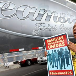 Truck drivers with temporary immigration status rally for permanent solution