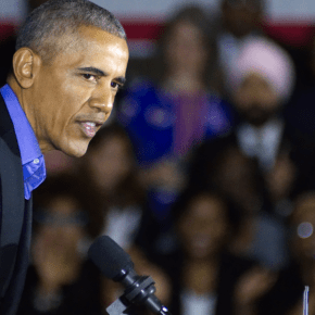 """Barack Obama Tells Voters Exactly Why Donald Trump Is Stoking Fears About the """"Caravan"""""""