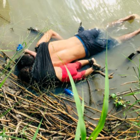 A woman watched her husband and daughter drown at the Mexican border, report says