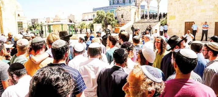 Masses of Jews ascend Temple Mount