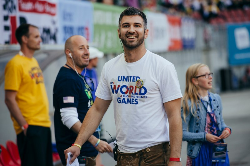 Participant seen during United World Games 2018, June 22.-24. 2018 at Klagenfurt, Austria.