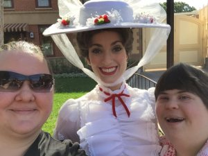 Leah and Brianna with Mary Poppins