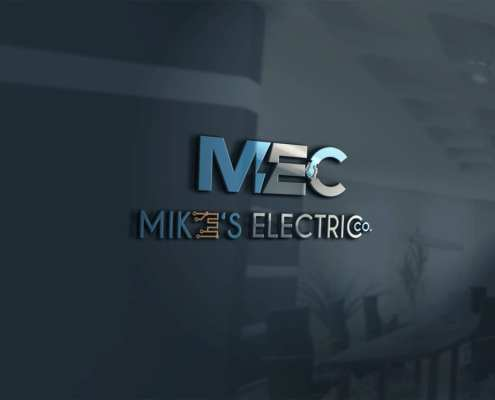 custom logo making for electrical company