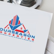 professional real estate brand logo design