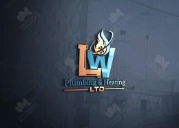 plumbing and heating logo design