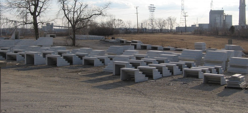 Precast Concrete Steps In Chicago Il – Unit Step Company   Precast Concrete Basement Steps   Bilco Doors   Bilco   Basement Entrance   Concrete Wall   Concrete Products