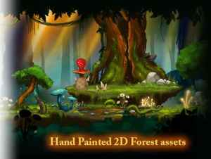 Painted 2D Forest