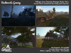 Backwoods Village Stamps for Gaia Vol 1 for free (unityassets4free)