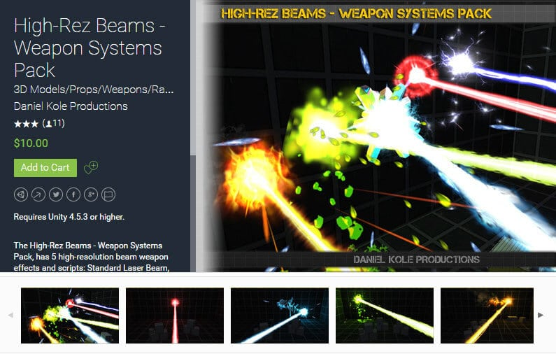 High-Rez Beams – Weapon Systems Pack