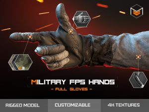 Military FPS Hands Full gloves