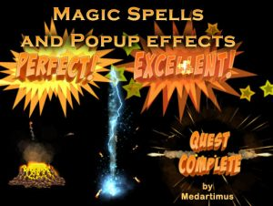 Magic Spells and Popup effects