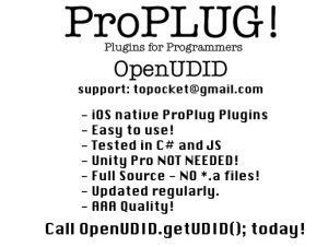 ProPLUG OpenUDID – iOS Unique Identifier Replacement UDID