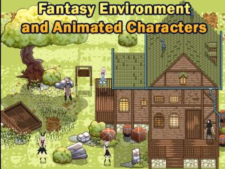 Fantasy Environment and Animated Characters (Pixel Art)