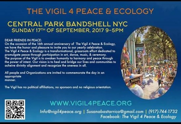 The Vigil 4 Peace and Ecology. @ Central Park Naumberg Bandshell.