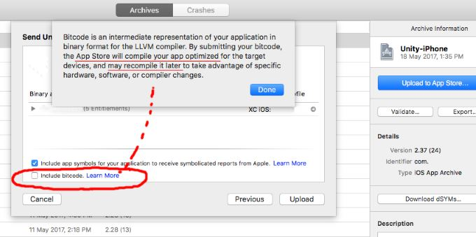 xcode-archive-build-settings « Unity Coding – Unity3D