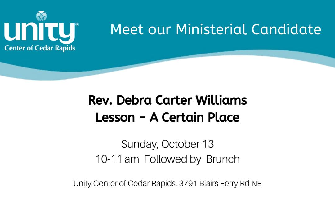 Ministerial Candidate Rev Debra Carter Williams