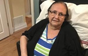 Yanira Rosa Gevara de Casco on the day she arrived home from Providence's COVID rehabilitation unit.