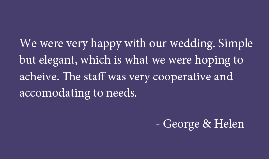 Weddings at UCOH - Testimonial