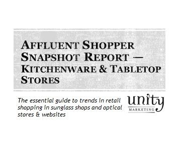 Kitchenware & Tabletop Shops, including websites: Affluent Shopper Snapshot  Report | Unity Marketing