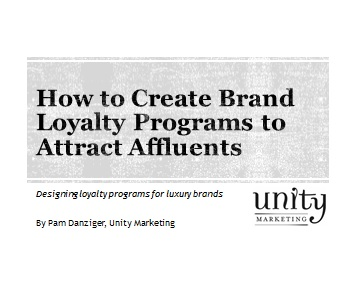Brand Customer Loyalty Affluents Luxury | Unity Marketing