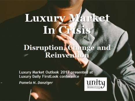 Luxury Market in Crisis: Disruption, Change, Reinvention
