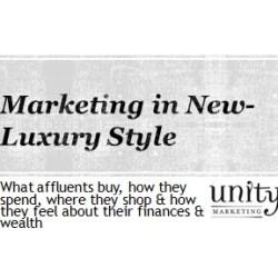 Marketing in new luxury style