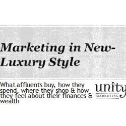 Marketing in new luxury style