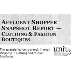 Affluent Shopper Snapshot Report:  Clothing & Fashion Boutiques