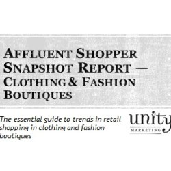 Affluent Shopper Snapshot Report:  Clothing & Fashion Boutiques