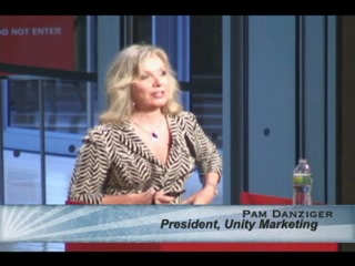 pam danziger at podium