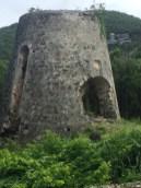 Historic sugar plantation ruins on Peace Hill