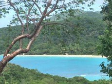 overlooking Trunk Bay, one of the ten most beautiful beaches on Earth (1)