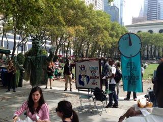 A demonstration occurred the day we toured the project, Freedom of Speech reigns supreme in the heart of NYC