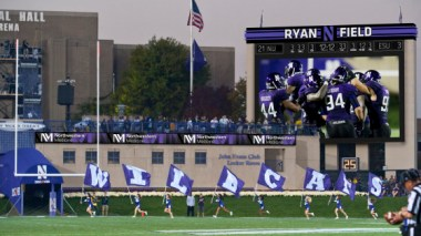 Northwestern University against University of Michigan during their game on Saturday, October 8, 2011 in Evanston, IL