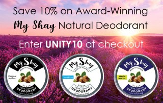 My Shay Deodorant. Enter UNITY10 at checkout to save 10%