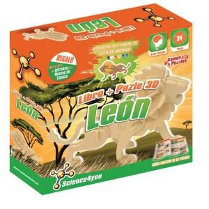 Libro + Puzzle 3D León